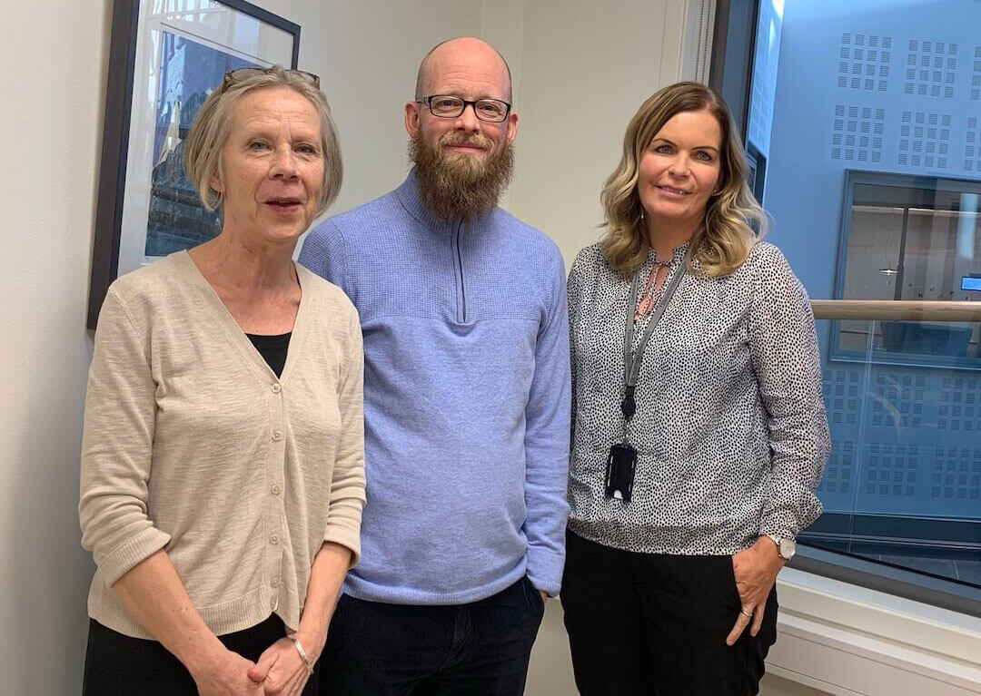 Shellie meets with members of the teacher's union, Norway.